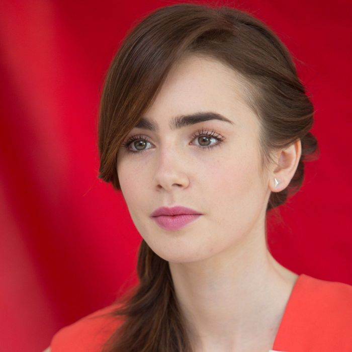 Lily Collins female beautiful girl wallpaper