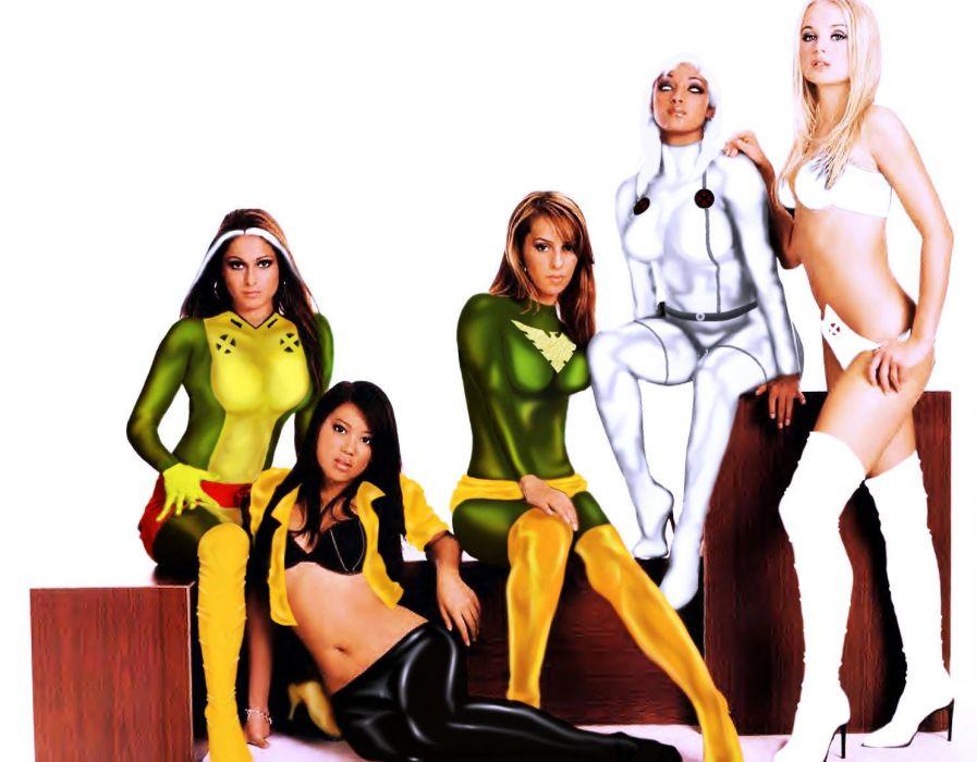 X-MEN superhero marvel action adventure sci-fi warrior fantasy fighting hero xmen comics sexy babe fetish cosplay wallpaper