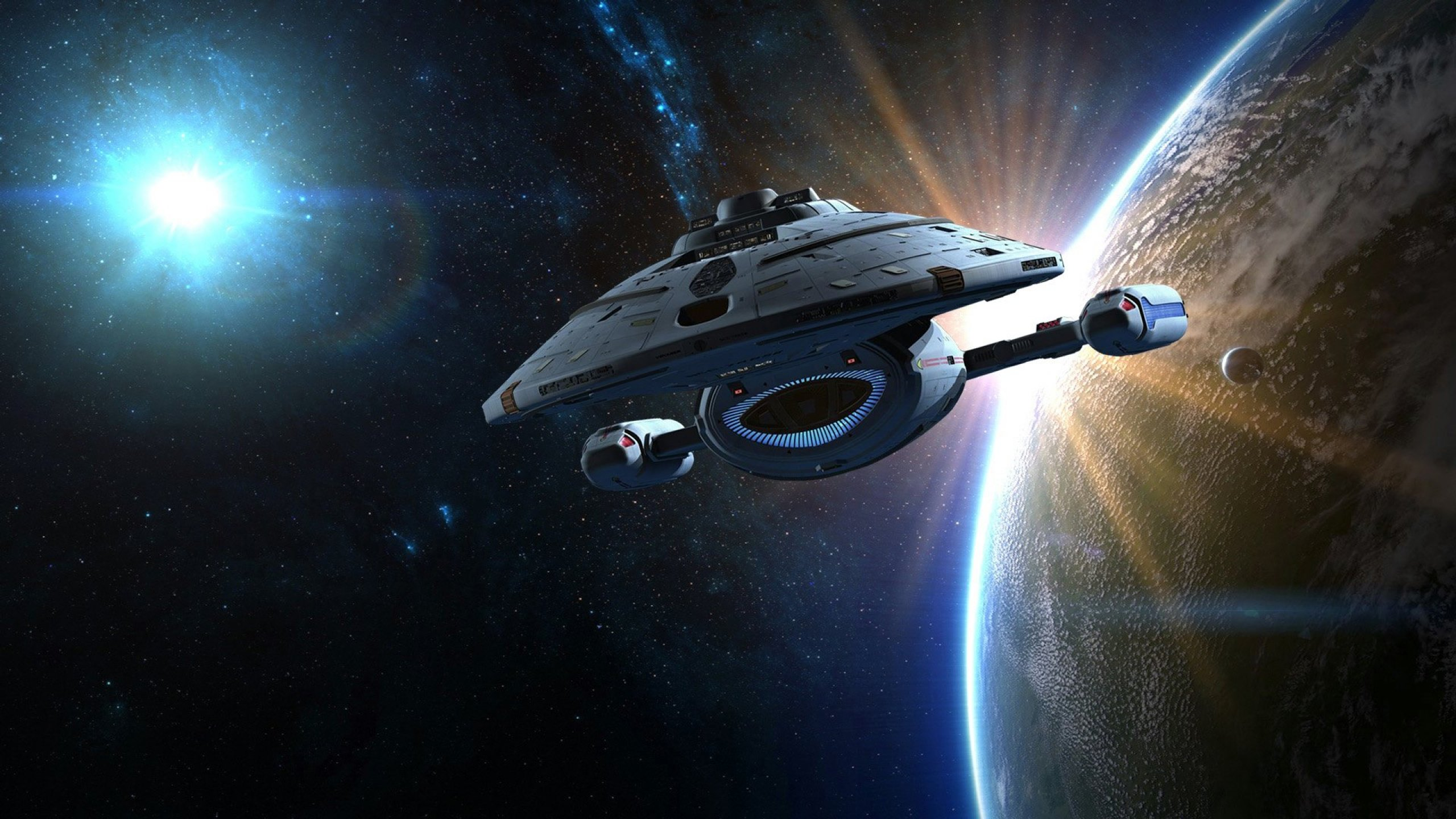 Sci Fi Wallpaper 2560x1440: STAR TREK Futuristic Action Adventure Sci-fi Space