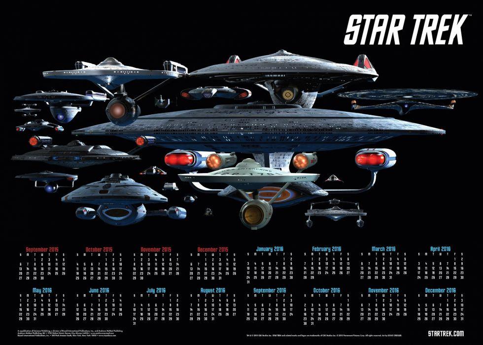 STAR TREK futuristic action adventure sci-fi space thriller mystery spaceship poster calendar 2016 wallpaper