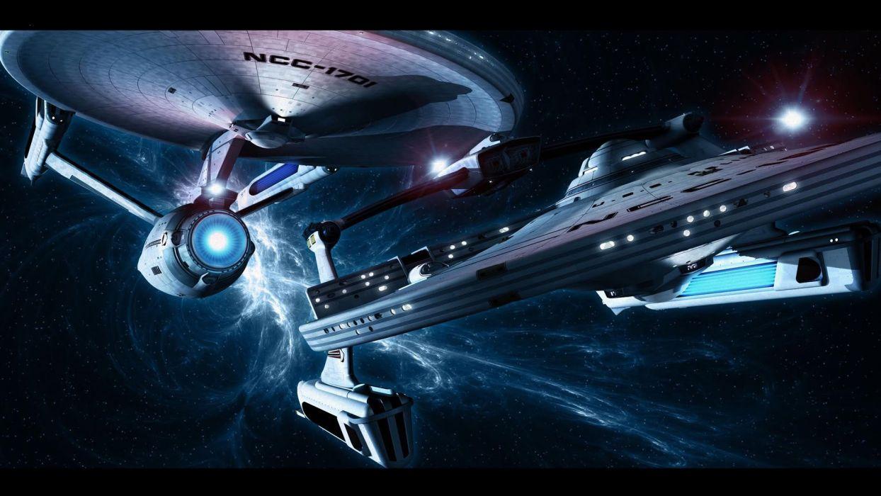 STAR TREK futuristic action adventure sci-fi space thriller mystery spaceship wallpaper