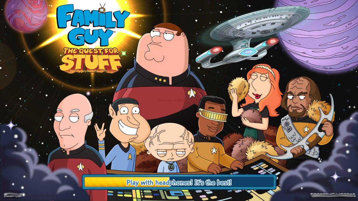 STAR TREK futuristic action adventure sci-fi space thriller mystery spaceship poster family guy wallpaper
