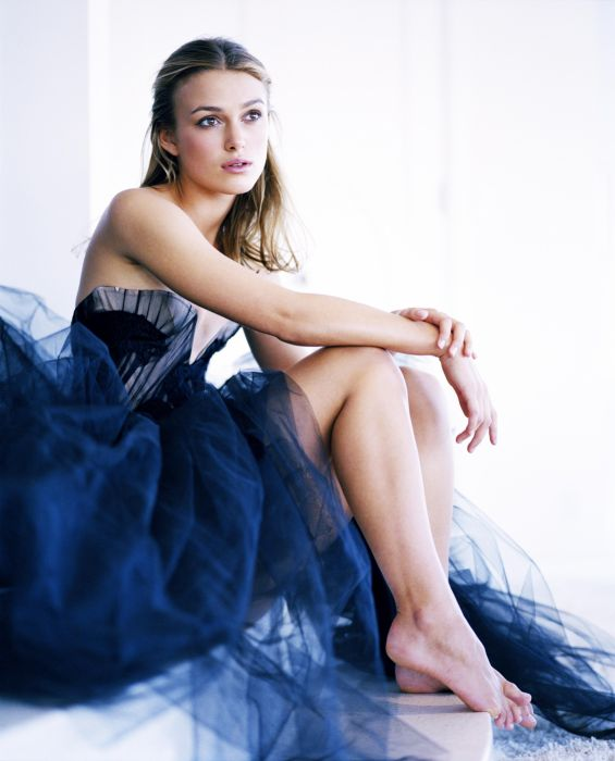 Keira Knightley female girl dress blue beautiful wallpaper