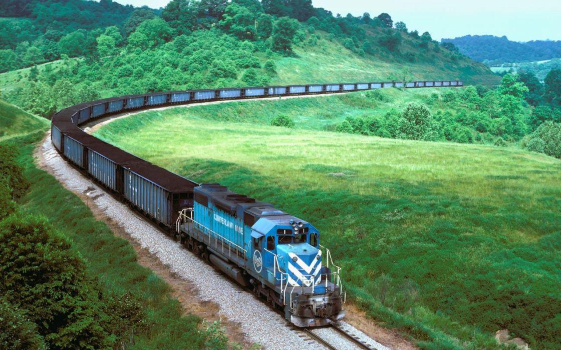 tren ferrocarril vagones paisaje wallpaper