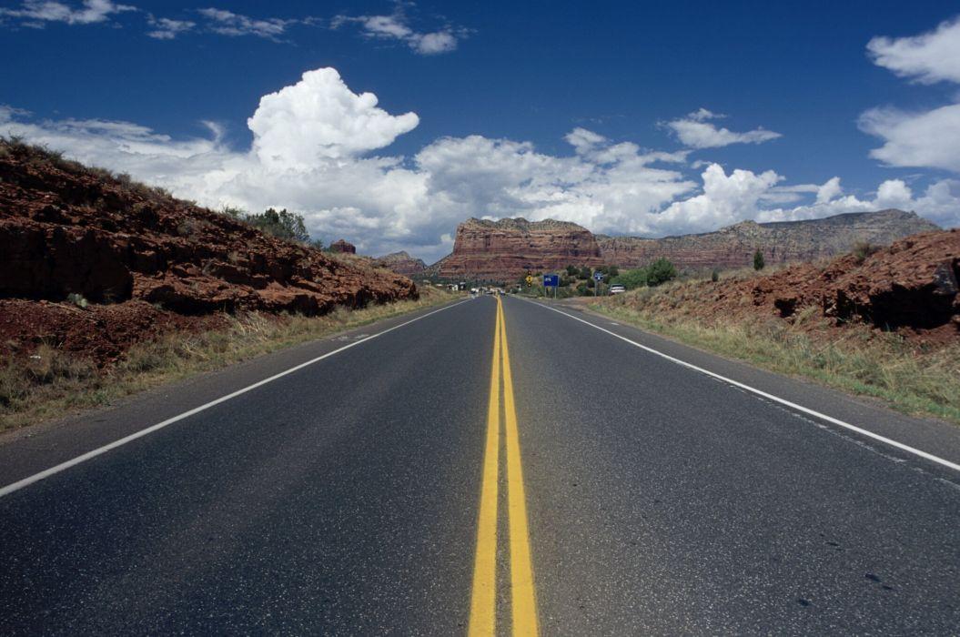 carretera asfalto camino wallpaper