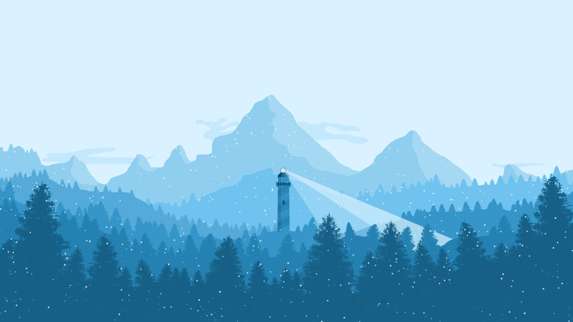 winter snow nature landscape art artwork lighthouse