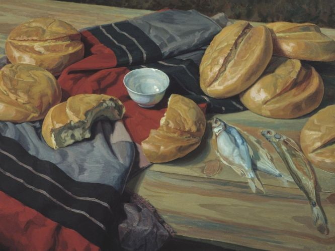 bread art oil paintings beauty wallpaper