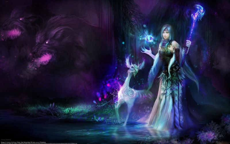 witch fantasy magic girl woman monster wallpaper