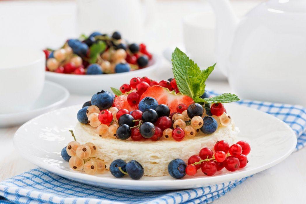 food cream sweet currants fruit wallpaper