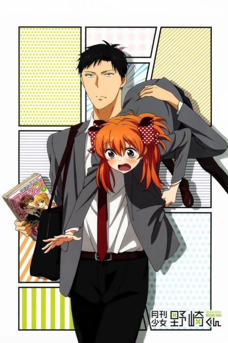 gekkan shoujo nozaki-kun sakura nozaki long hair anime series couple love cute girl guy beauty school uniform manga wallpaper