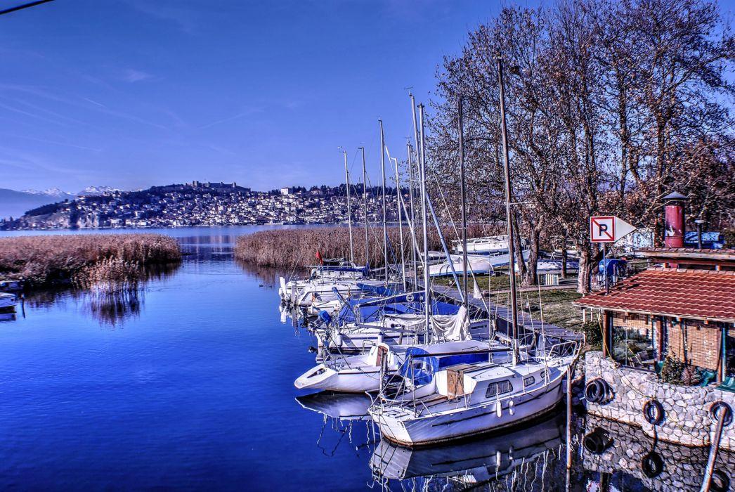 Ohrid port wallpaper