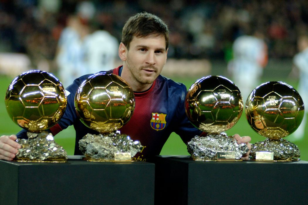 leo messi 4 balones oro barcelona argentina wallpaper