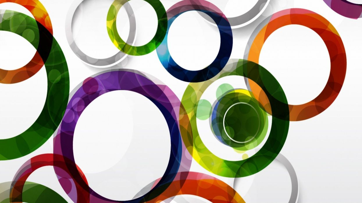 abstracto rings aros colores wallpaper