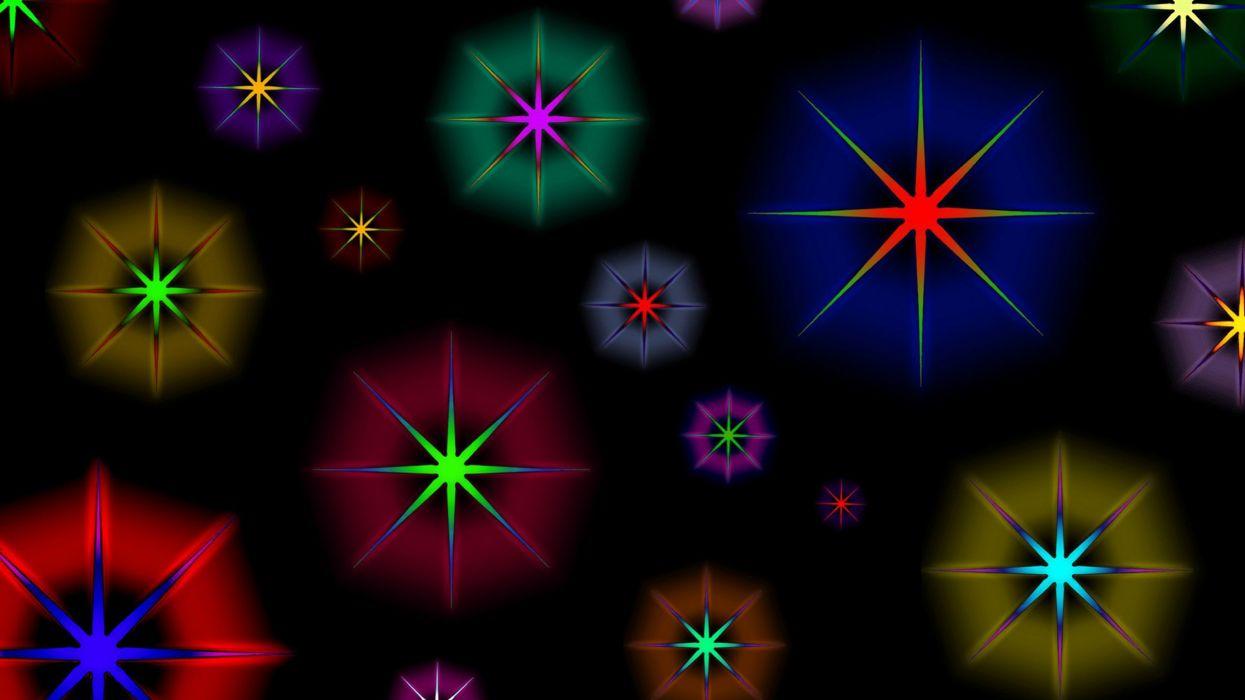 abstracto color ful estrellas colores wallpaper