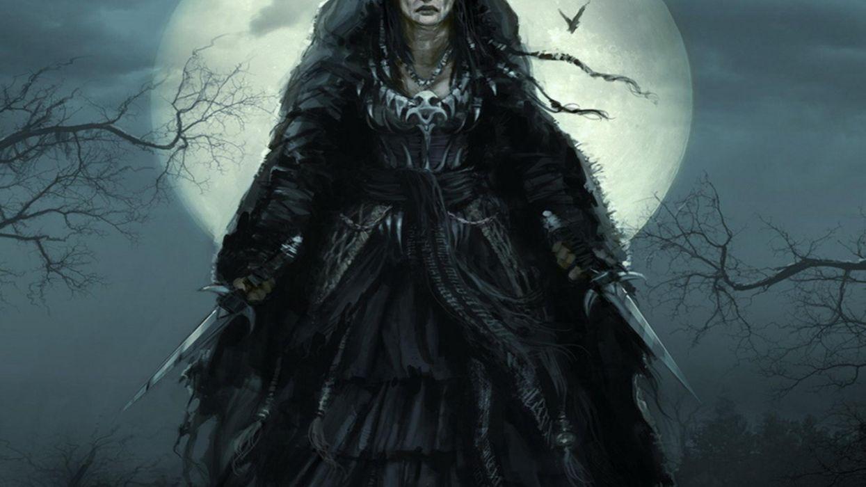 bruja fantasia luna wallpaper
