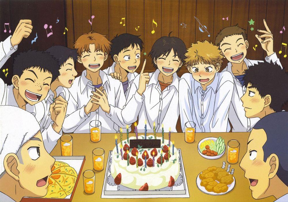anime boys school uniform group friends beauty abe takaya cake hanai azusa izumi kousuke mihashi ren mizutani fumiki ookiku furikabutte sakaeguchi yuuto suyama shoji tajima yuuichirou wallpaper