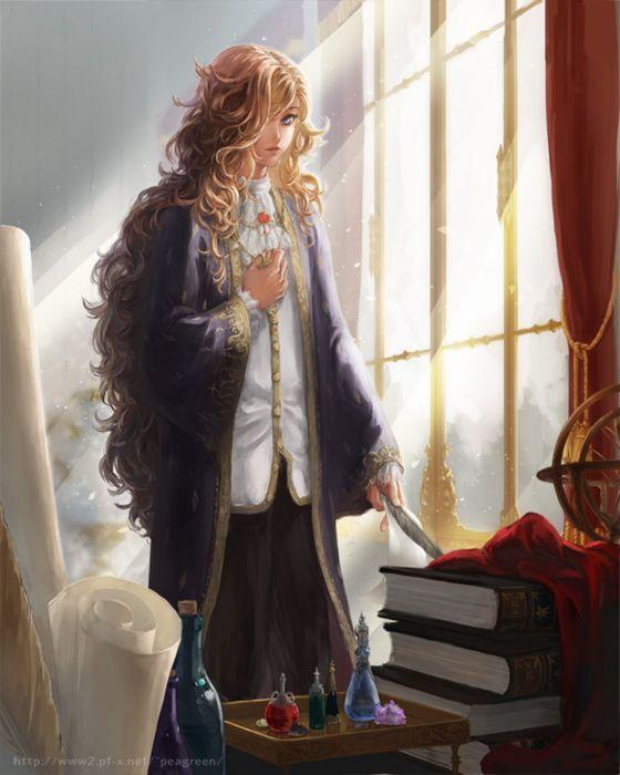 anime girl blue eyes hair long beautiful wallpaper