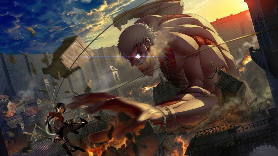 anime girl series titan wallpaper