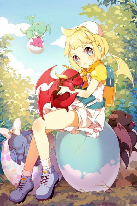 anime girl ahoge-blonde-hair-blue-eyes cute wallpaper