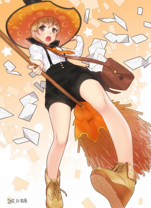 anime girl cute beautiful witch wallpaper