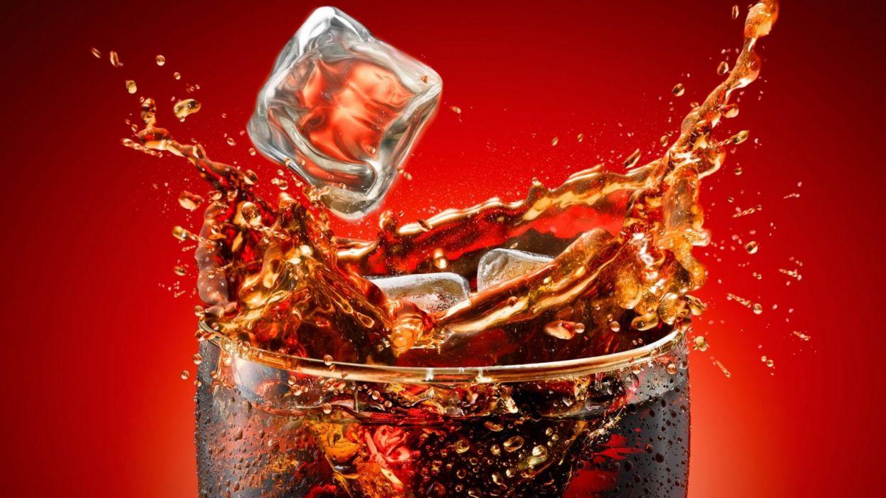 vaso hielo refresco wallpaper