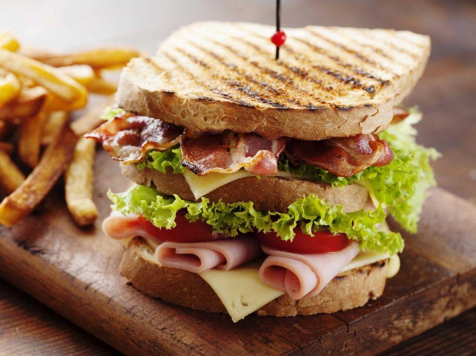 sandwich verdura embutidos carne wallpaper