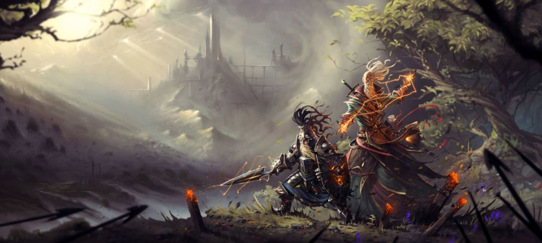 DIVINITY-ORIGINAL-SIN strategy fantasy rpg sci-fi fighting 1dosin divinity original sin warrior wallpaper