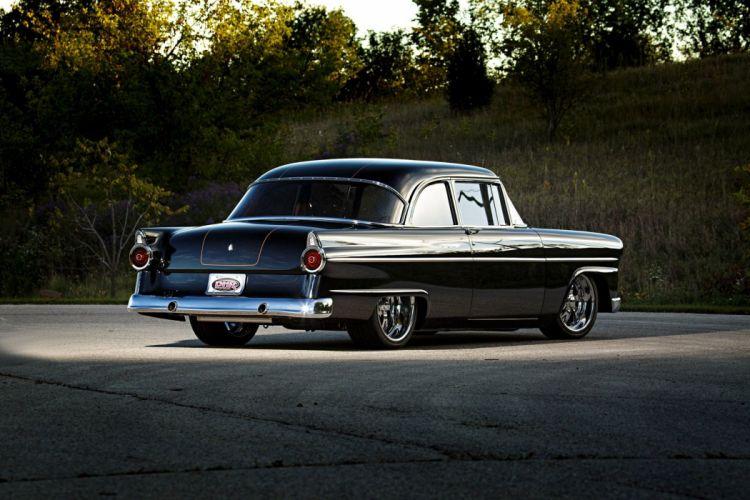 1955 Ford Customline sedan cars black wallpaper