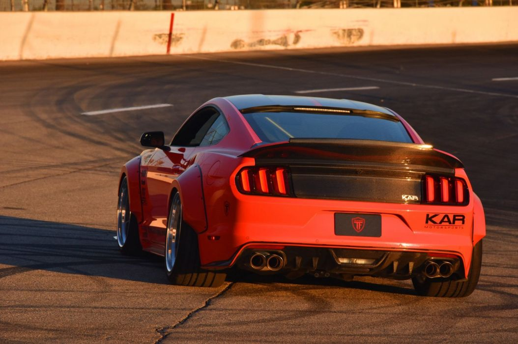 2015 Ford Mustang S550 bodykit modified cars wallpaper