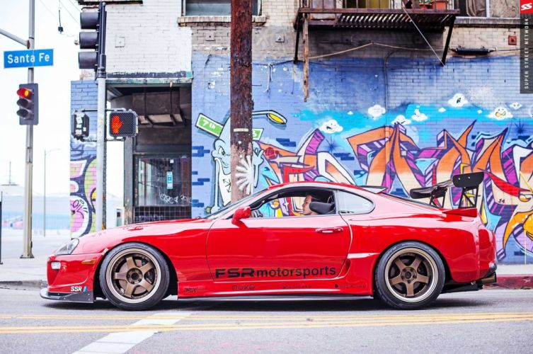 1995 toyota supra red modified cars wallpaper