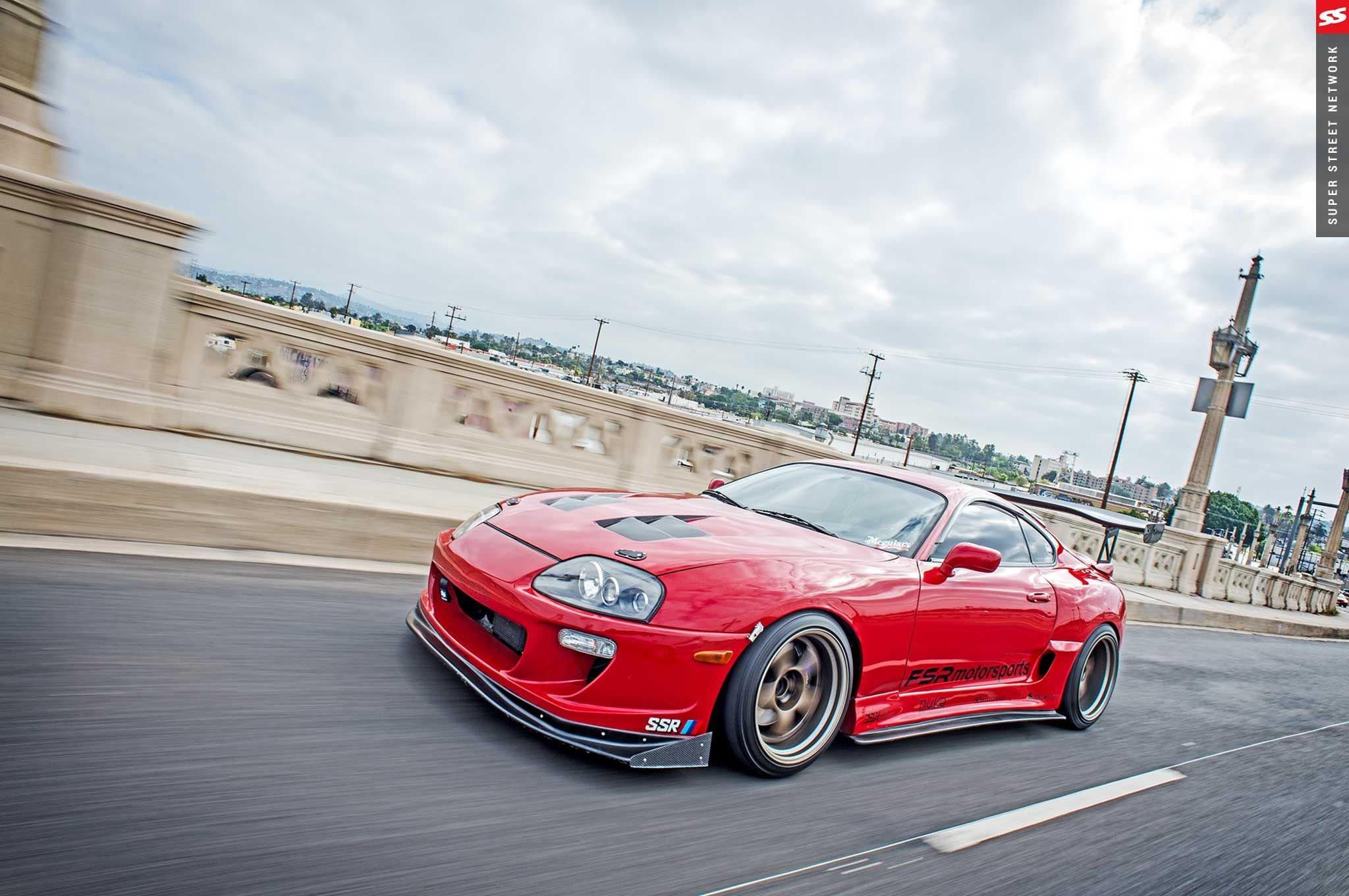 1995 Toyota Supra Red Modified Cars Wallpaper 2048x1360