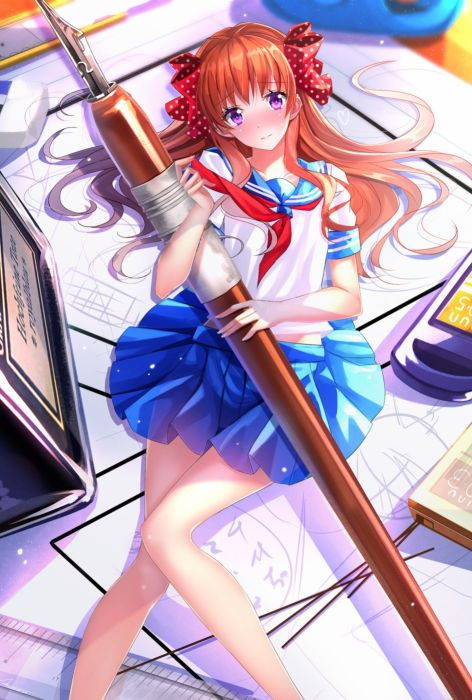 anime girl gekkan shoujo nozaki-kun sakura long hair anime series cute girl beauty school uniform wallpaper