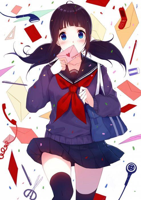 original girl school uniform anime cute wallpaper