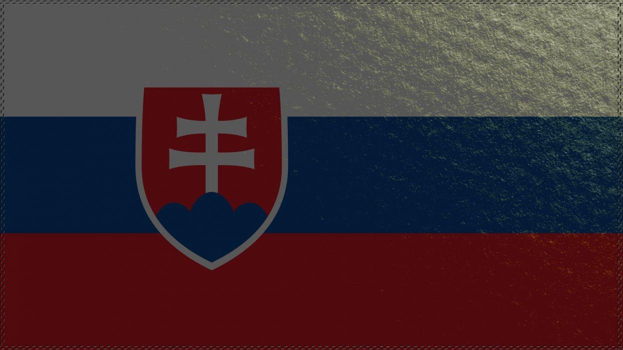 Slovakia flag wallpaper