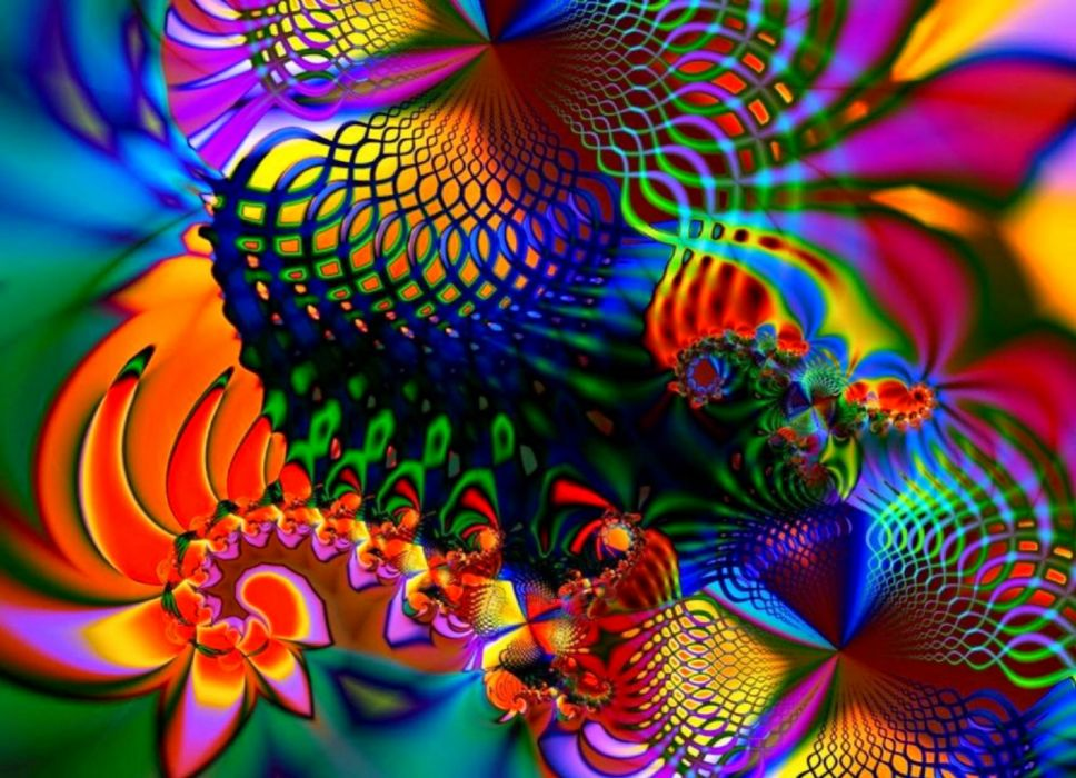 abstracto fractal colorido wallpaper