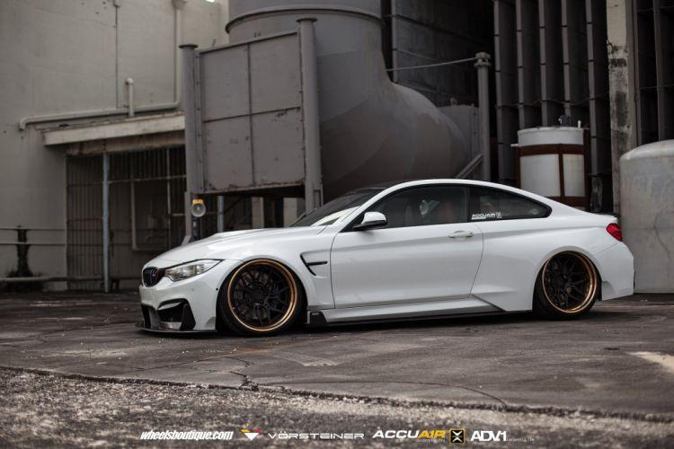 BMW M4 GTRS4 Vorsteiner Widebody cars white wallpaper