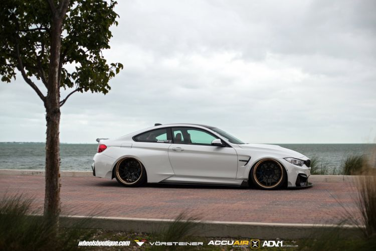 BMW M4 GTRS4 Vorsteiner Widebody cars white wallpaper