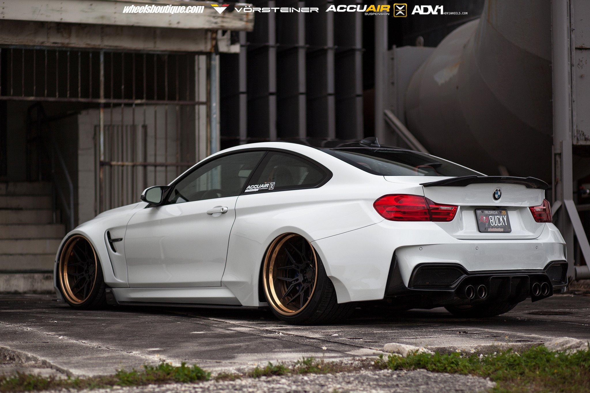 BMW M4 GTRS4 Vorsteiner Widebody cars white wallpaper ...