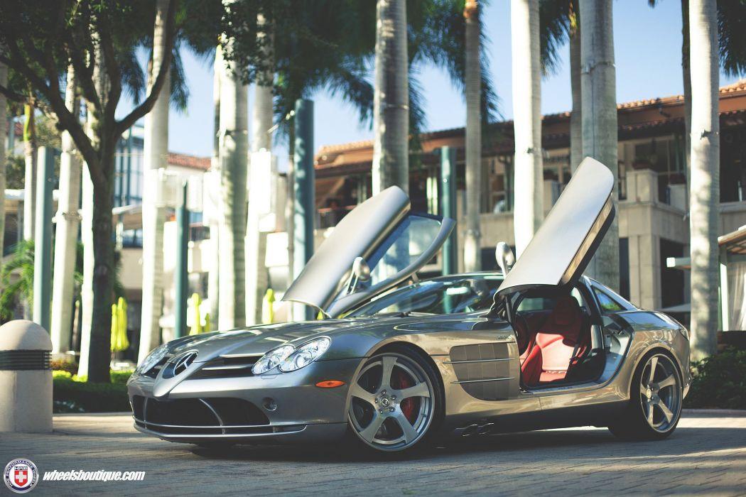 Mercedes Benz SLR McLaren HRE wheels cars supercars wallpaper