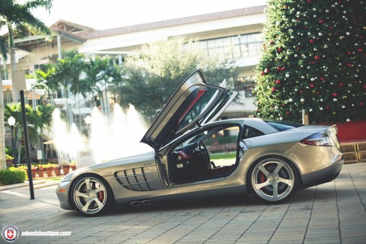 Mercedes Benz SLR McLaren HRE wheels cars supercars wallpaper