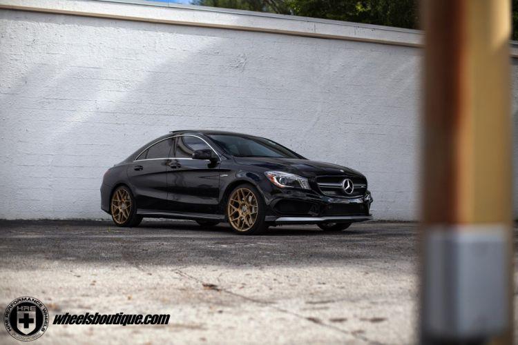 Mercedes Benz CLA 45 AMG wheels cars hre cars black wallpaper