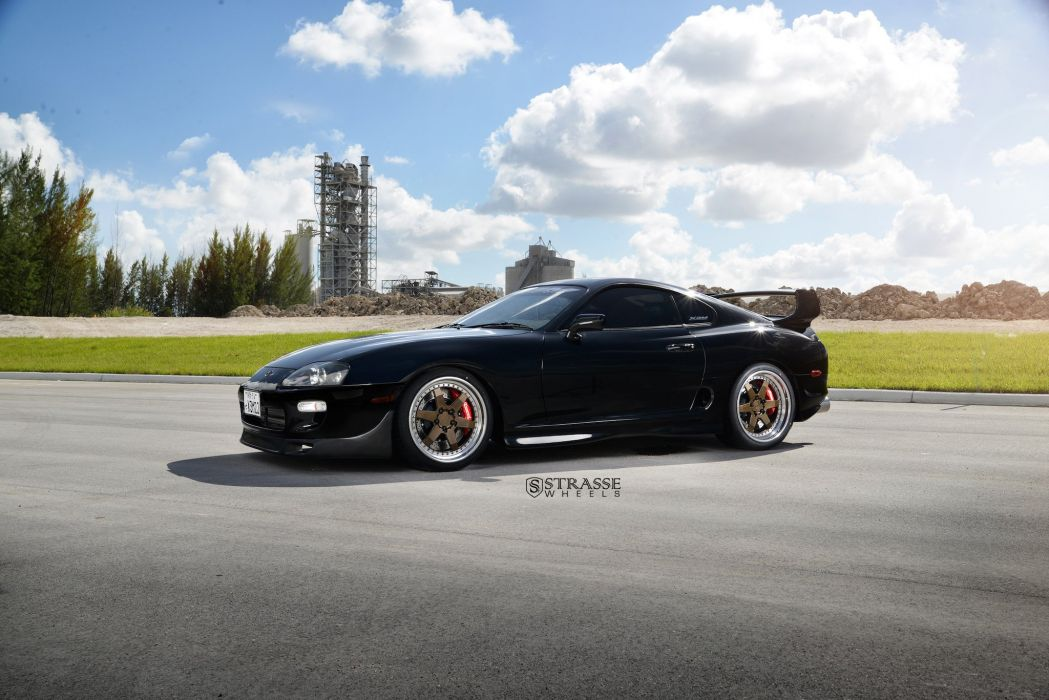 Strasse Wheels Toyota Supra By Xtreme Autowerke cars black coupe wallpaper