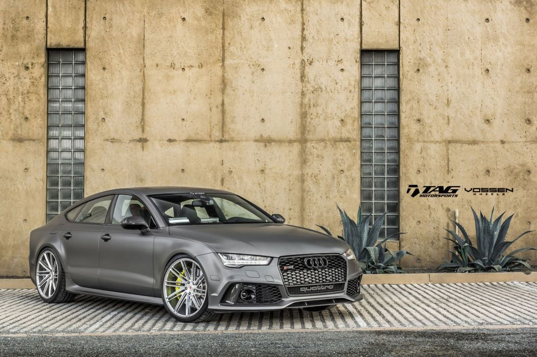 Audi RS7 Vossen wheels cars silver wallpaper