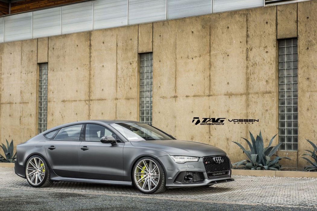 Audi RS7 Vossen wheels cars silver wallpaper