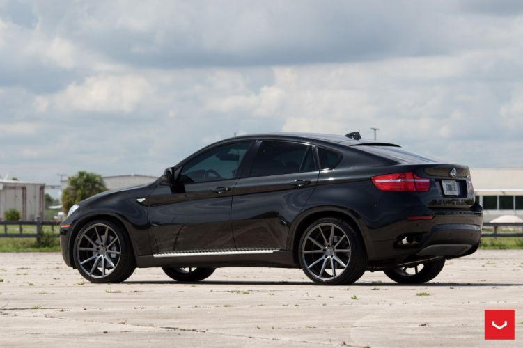 BMW X6 Vossen wheels cars black suv wallpaper
