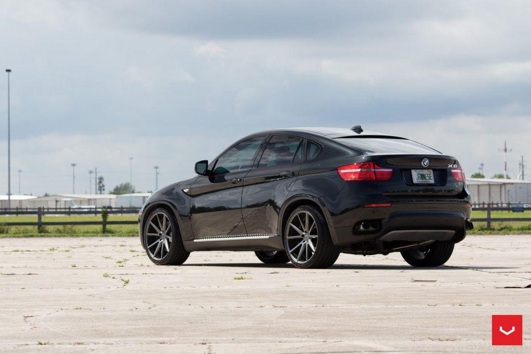BMW X6 Vossen wheels cars black suv wallpaper