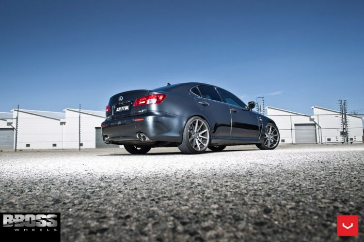 Lexus ISF Vossen wheels cars silver sedan wallpaper
