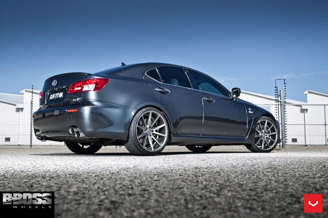 Lexus ISF Vossen wheels cars silver sedan wallpaper