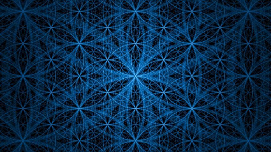 abstracto 3d circulos azules wallpaper