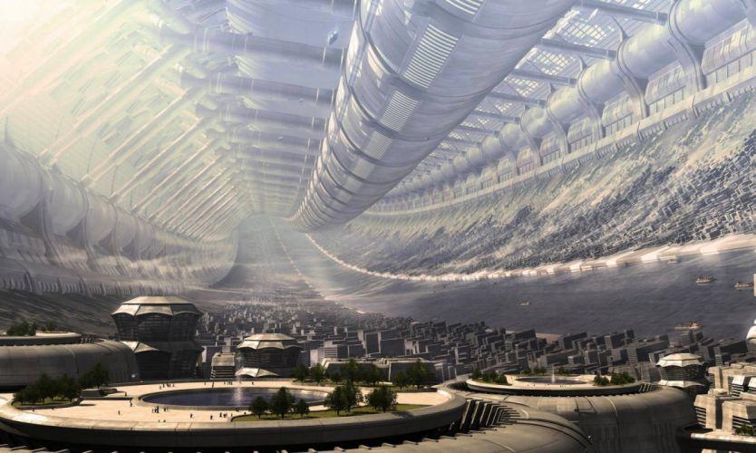 abastracto ciudad futura sci-fi wallpaper